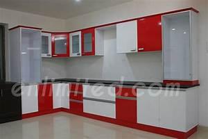 modular kitchen designs enlimited interiors hyderabad With modular kitchen designs red white