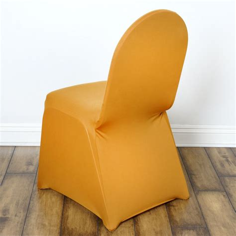 gold spandex chair cover efavormart