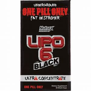 Nutrex Lipo 6 Black Ultra Concentrate  60 Pk
