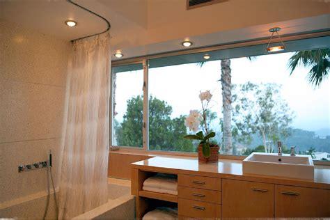 ceiling mount shower curtain rod bathroom transitional