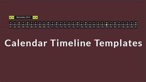 calendar timeline templates  excel