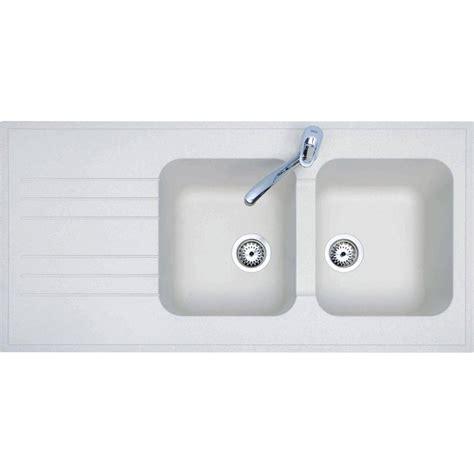 peinture carrelage cuisine plan de travail evier à poser résine blanc bari 2 bacs avec égouttoir