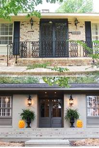 Painted Brick Exterior Before and After