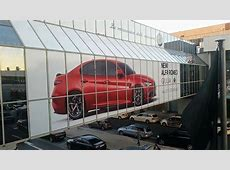 Alfa Romeo Giulia QV Billboard at Frankfurt Airport is