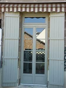 porte fenetre 2 vantaux avec imposte petits bois colles With volet porte fenetre bois