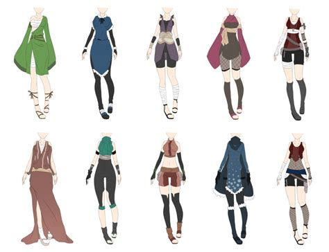 Naruto Outfit Adoptables 8 [CLOSED] by xNoakix3.deviantart.com on @deviantART | Character ...