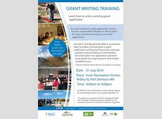 Grant writing training NACC Northern Agricultural