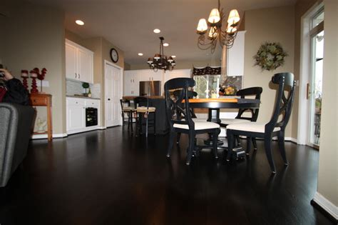 country sophisticated black floor traditional kitchen