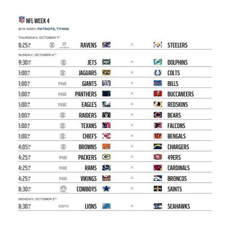 nfl  schedule regular season week