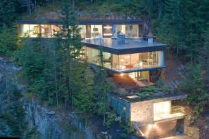Beautiful Mountain House Plans With A View by Modern Slope House Design Beautiful Homes