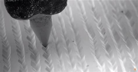 vinyl record played   electron microscope earthly