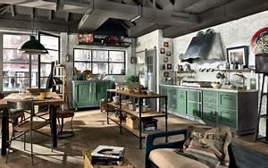 Amerikanische Küche Einrichtung : landhauskuechen von marchi group die loft kueche im landhausstil kitchen pinterest loft ~ Frokenaadalensverden.com Haus und Dekorationen