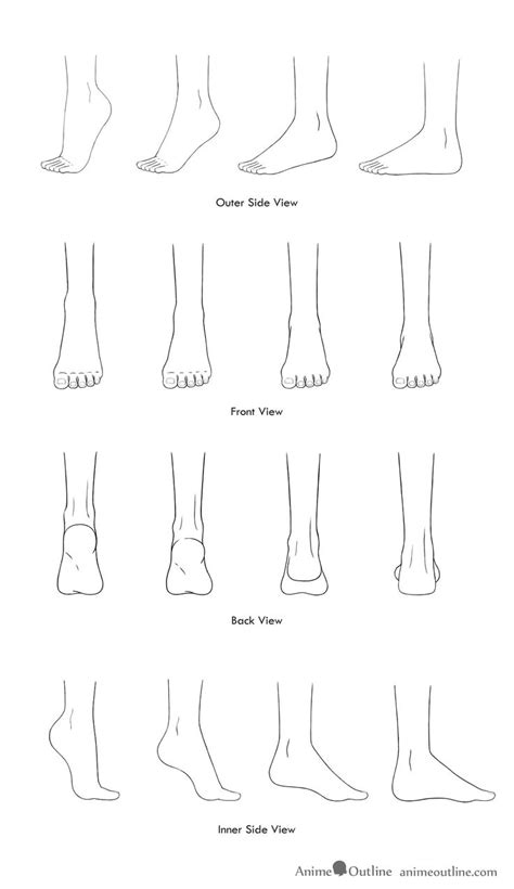 drawings  anime feet   positions