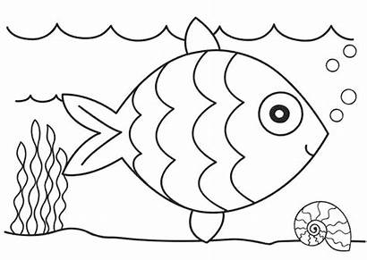 Coloring Pages Fish Colouring Printable Clipart Printables