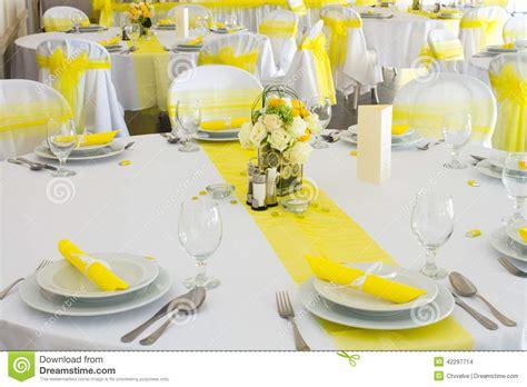 wedding table decoration stock photo image