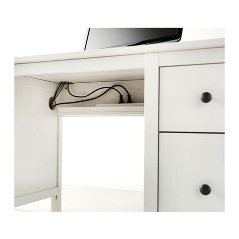 ikea hemnes desk cable outlet for easy cable management