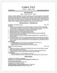 professional resume exles accounting professional resume cover letter sle professional cost accountant accounting manager