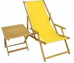Tisch Klappbar Holz : strandstuhl gelb gartenliege strandliege deckchair tisch ~ A.2002-acura-tl-radio.info Haus und Dekorationen