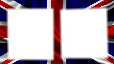 montage photo drapeau anglais 2 cadres pixiz