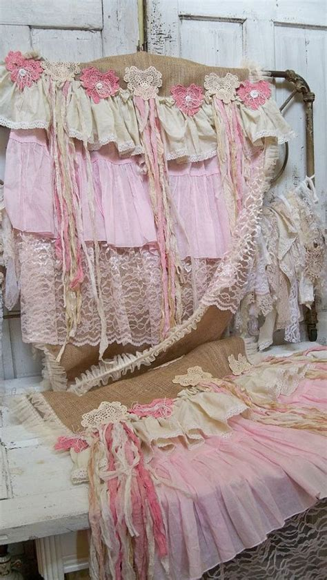 shabby chic table runners large table runner burlap shabby chic handmade pink and