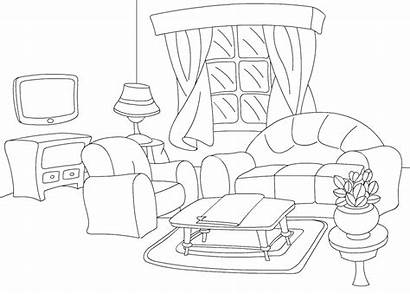 Coloring Furniture Pages Risunki Dining Mebel Coloringtop