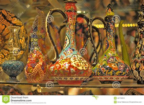 ceramics souvenir shop traditional vases royalty free stock turkish souvenirs ceramics stock photo image 42716810