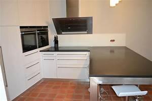 meuble plan travail cuisine meuble plan de travail With peinture noir mat pour meuble en bois