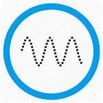 Icon Waveform Amplitude Analog Signal Sine Period