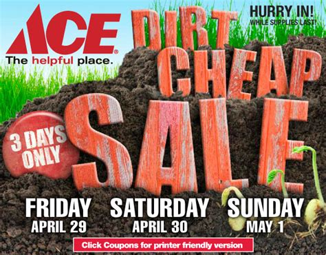 DIRT CHEAP SALE - Ace - The helpful place