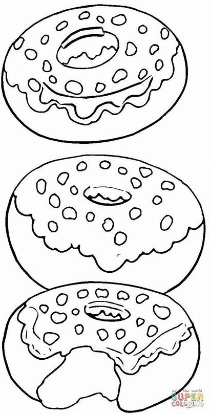 Coloring Pages Printable Donut Donuts Super