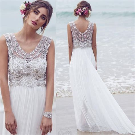 1000 Ideas About Bohemian Wedding Dresses On Pinterest