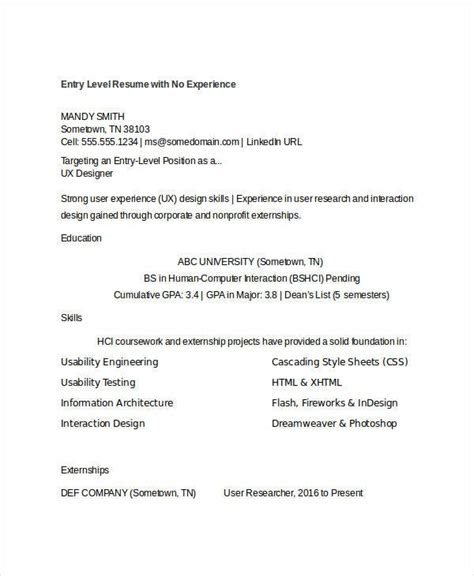generic resume template   word  documents