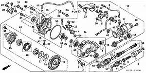 Honda Atv 2006 Oem Parts Diagram For Front Final Gear