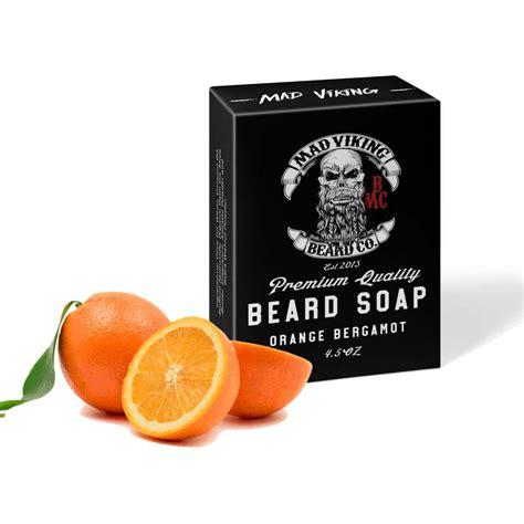 mad viking orange bergamot soap mad viking beard