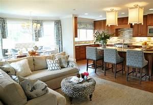 Open Concept Kitchen and Living Room Décor - Modernize