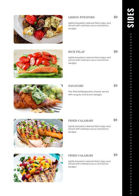 carte cuisine design templates menu templates wedding menu food