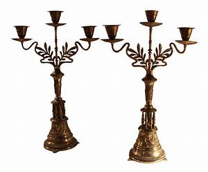 art nouveau bronze candelabras a pair chairish With kitchen cabinets lowes with art nouveau candle holders