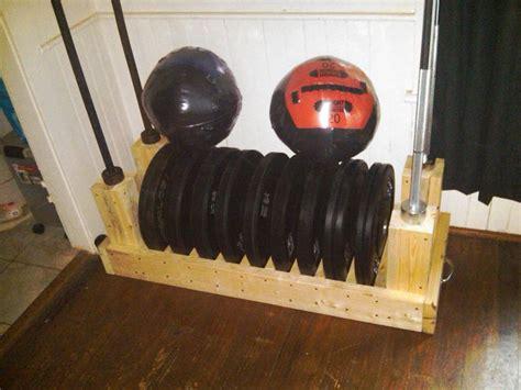 great design   plate rack  bar storage photo   equipment workout diy home gym