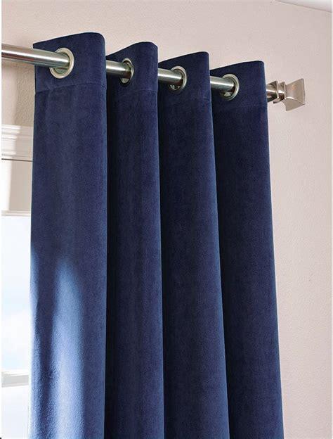 navy blue vintage blackout 100 cotton velvet lined
