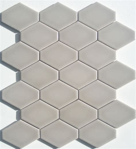 elongated hex tile lyric lounge collection elongated hex tile plane in greige
