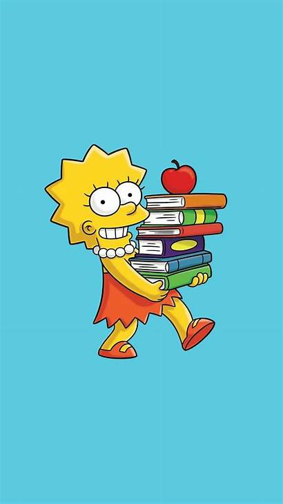 Simpsons Simpson Lisa Wallpapers Iphone Aesthetic Backgrounds