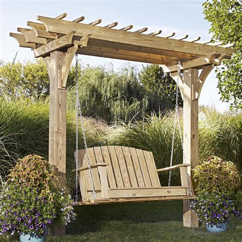 arbor plans easy swinging arbor with swing woodworking plan from wood magazine