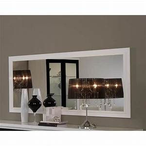 Miroir Rectangulaire Mural : miroir mural rectangulaire blanc laqu design maribella l180 x p4 x h85 cm taille l180 x p4 ~ Teatrodelosmanantiales.com Idées de Décoration