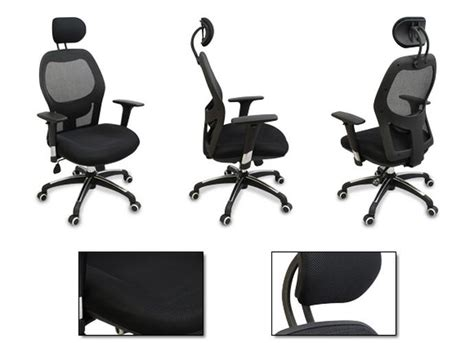 ergonomic office chair with lumbar support new mesh ergonomic office chair w adjustable headrest