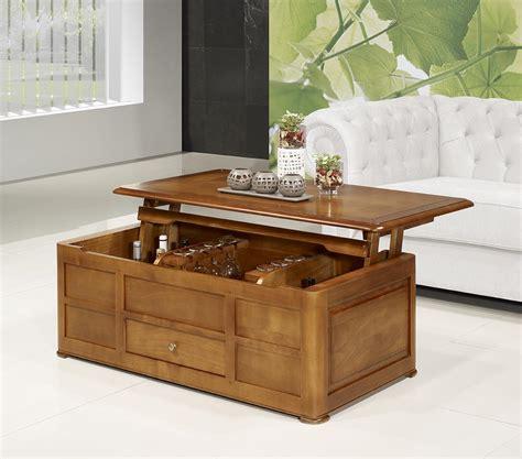 table basse bar ine en merisier de style louis philippe meuble en merisier massif