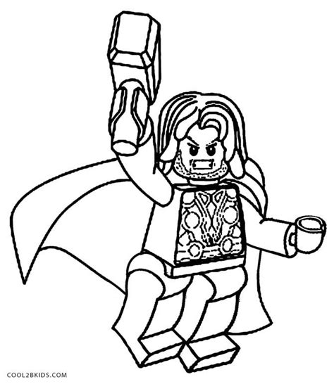 Kleurplaat Thor by Printable Thor Coloring Pages For Cool2bkids