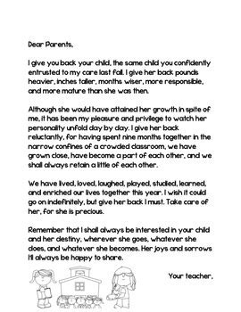 end of the year letter to parents from end of the year letter to parents in and 22349
