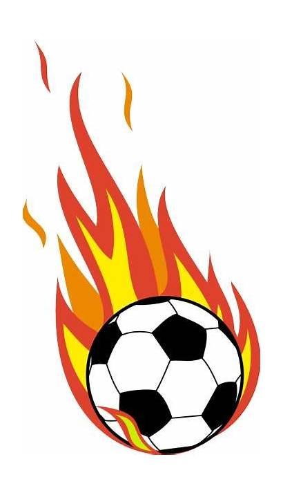 Soccer Ball Clip Clipart Flaming Kicking Flames