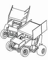 Dirt Late Sprint Coloring Track Race Racing Cars Drawing Vector Stencils Kart Template Printable Midget Silhouette Getcolorings Electronics Getdrawings Zone sketch template
