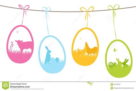 Easter Gift Tags Stock Vector